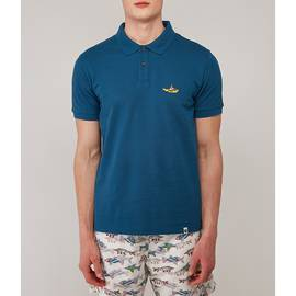 Blue Beatles Submarine Embroidery Polo