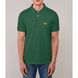 Green Beatles Submarine Embroidery Polo