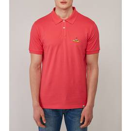 Pink Beatles Submarine Embroidery Polo
