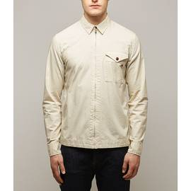 Stone  Slim Fit Zip Front Shirt