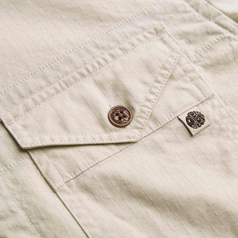 Mens Slim Fit Zip Front Shirt