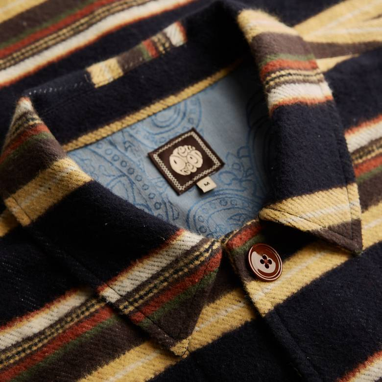 Mens Striped Overshirt