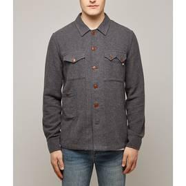 Grey  Herringbone Overshirt