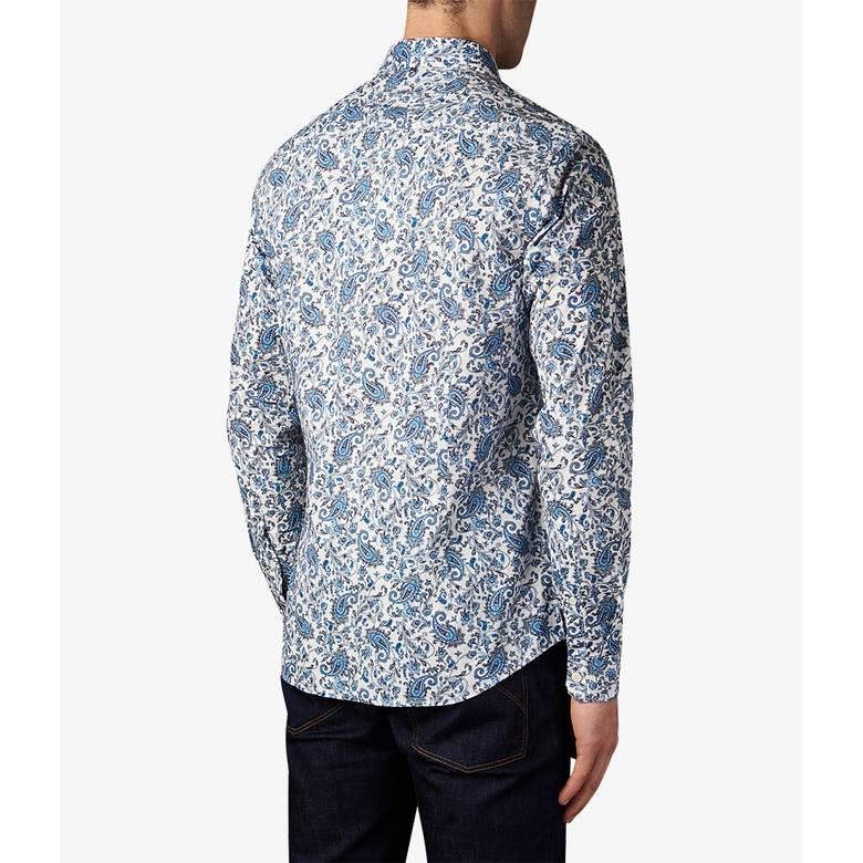 Mens Slim Fit Ditsy Printed Shirt