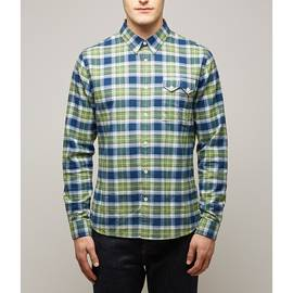 Green  Slim Fit Check Shirt