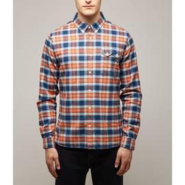 Orange  Slim Fit Check Shirt