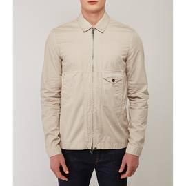 Stone  Garment Dyed Zip Through Shirt