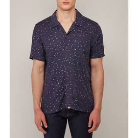 Navy  Short Sleeve Star Print Shirt