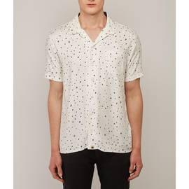 White  Short Sleeve Star Print Shirt