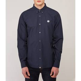 Navy  Classic Fit Chest Badge Shirt