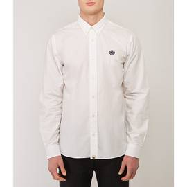 White  Classic Fit Chest Badge Shirt