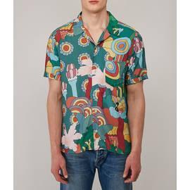 Green  Beatles Floral Print Shirt