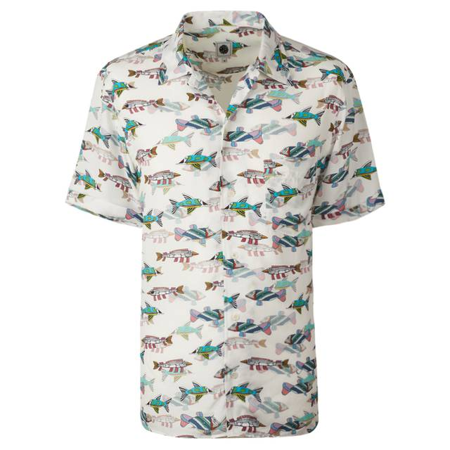 Beatles fish print shirt pretty green online shop for Fish print shirt