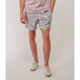 Grey  Paisley Print Swim Shorts