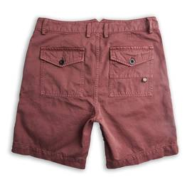 Burgundy  Cotton City Shorts