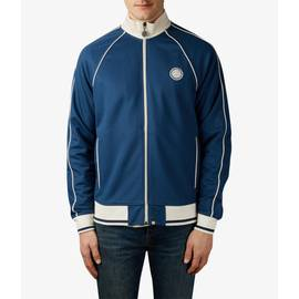 Navy  Contrast Piping Track Top
