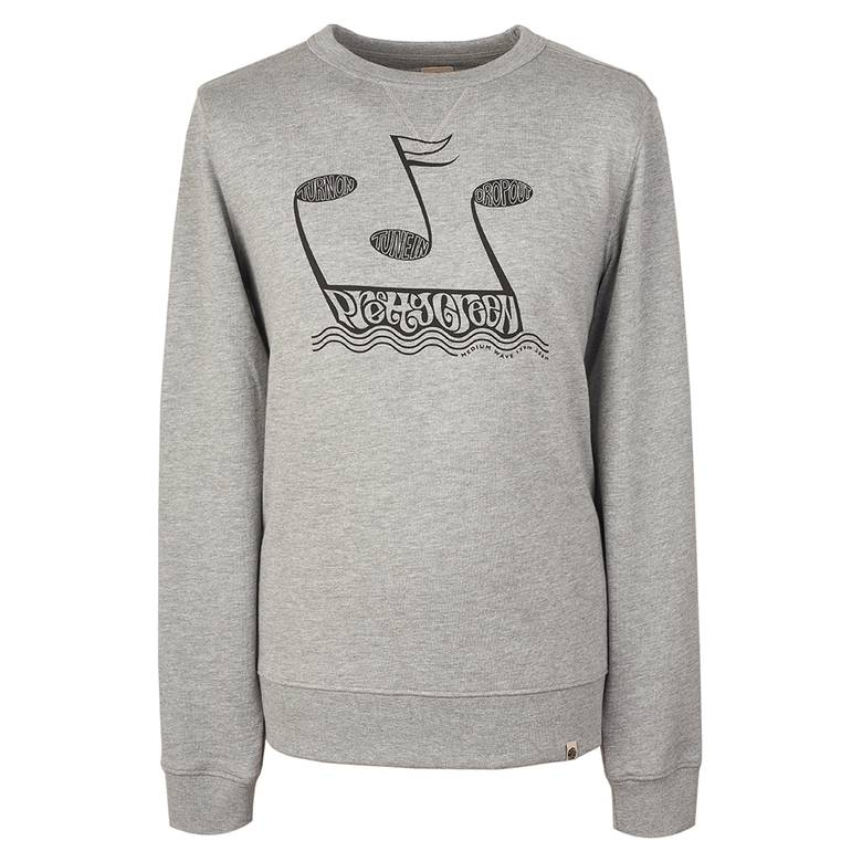 Mens Music Printed Crew Sweatshirt