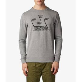 Grey  Music Printed Crew Sweatshirt
