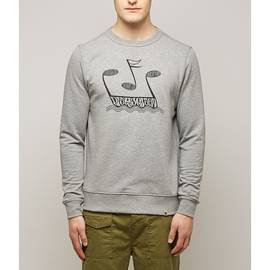 Grey  Music Printed Crew Sweatshirt
