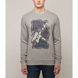 Grey  Pretty Green Print Crew Sweatshirt