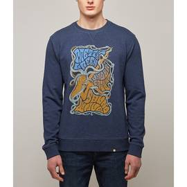 Navy  Pretty Green Print Crew Sweatshirt