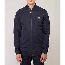 Navy  Track Top With Bullion Badge