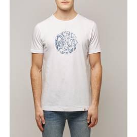 White Ditsy Print Applique Logo T-Shirt