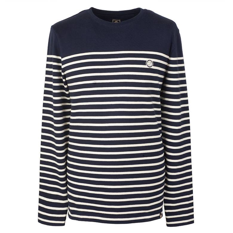 Mens Long Sleeve Bretton Stripe T-Shirt