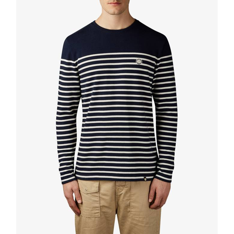 Mens Long Sleeve Bretton Stripe T-Shirt