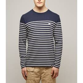 Navy Long Sleeve Breton Stripe T-Shirt