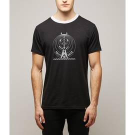 Black  Medium Wave Print T-Shirt