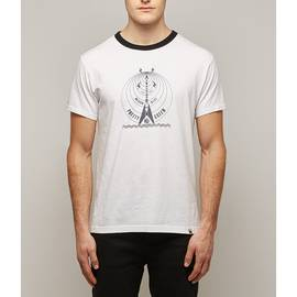 White  Medium Wave Print T-Shirt