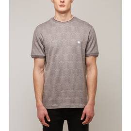 Grey  Radio Wave Jacquard T-Shirt
