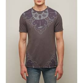 Dark Grey  Bandana Print T-Shirt