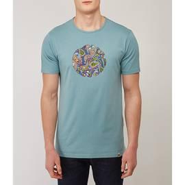 Blue  Paisley Print Logo T-Shirt