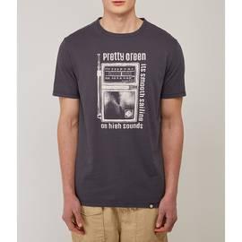 Grey  Radio Print T-Shirt