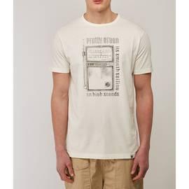 White  Radio Print T-Shirt