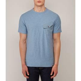 Blue  Slub Marl Twill Pocket T-Shirt