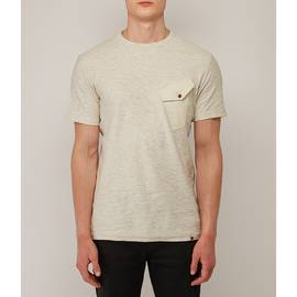 Stone  Slub Marl Twill Pocket T-Shirt