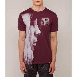 Burgundy  Graphic Face Print T-Shirt