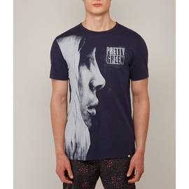 Navy  Graphic Face Print T-Shirt