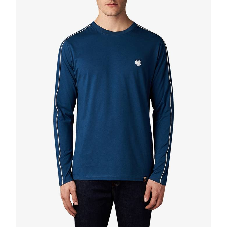 Mens Long Sleeve Contrast Piping  T-Shir