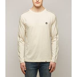 Stone Long Sleeve Contrast Piping T-Shirt