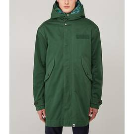 Green Katie Eary Parka With Toria Print Hood Insert