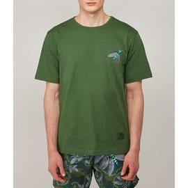 Dark Green Katie Eary Toria Embroidered T-Shirt