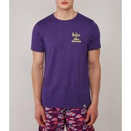 Purple  Beatles Meanie Print T-Shirt