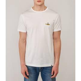 White Beatles Submarine Embroidery T-Shirt
