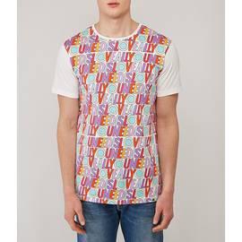 White  Beatles All You Need Print T-Shirt