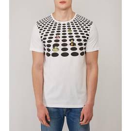 White  Beatles Spot Print T-Shirt