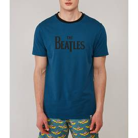 Navy  Beatles Print T-Shirt
